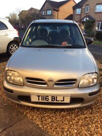 Nissan Micra GX Auto. 1275cc. 1999, 2 owners, local car, 56,000 miles, brand new MOT