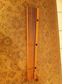 Brown Wooden Venetian Blinds 110cm x 93cm (approx)