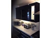 Black high gloss doors and drawer fronts ex con pelmet and kick plates make me a offer over £100