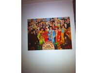 The Beatles Sgt Peppers Large Canvas - Music Memorabilia