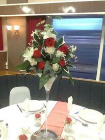 Wedding flower centrepieces x8