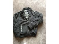 Henleys deluxe black jacket .no hood . Size 2