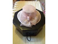 BHS Pink Dress Hat and Box