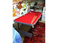 5foot pool/snooker table
