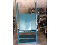 Adjustable metal shelving