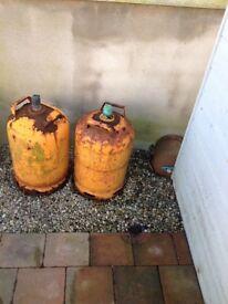 Two calor gas bottles