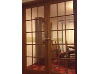 Pair of 15 panel glass dining room doors