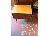 Beautiful vintage oak sewing box