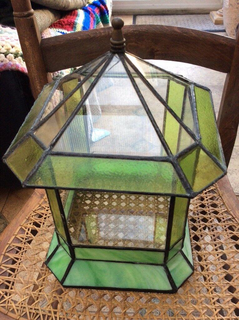 Vintage Stained Glass Terrarium Planter Cacti In Gorleston Norfolk
