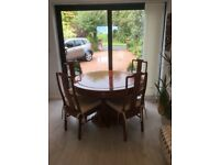 Chinese rosewood dining table and 6 chairs
