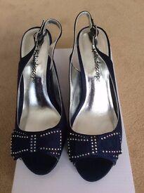 Navy Blue Evening Shoe Size 6