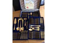 Gold plated 24 carat cutlery
