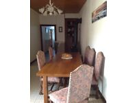 Beautiful large solid Oak Dining Table