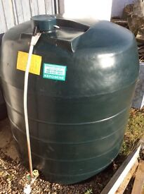 1360 litre single skin bee hive oil tank.