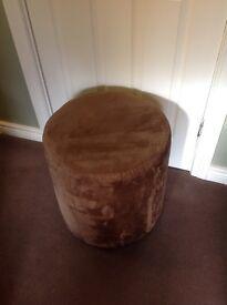 Brown suede stools (2)
