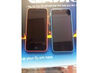 iphone 5C pink or blue,both on EE. network excellent condition