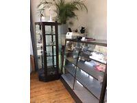 Shop display cabinets.