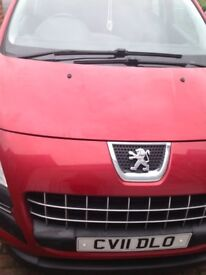 Peugeot 3008 diesel 1.6, automatic, 5 door, 2011, £3550ono