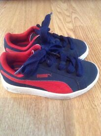 Boys Puma Suede trainers size 10