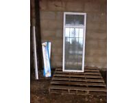 new upvc white window with lead design
