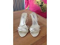 Size 6 - Dune - strappy gold heels