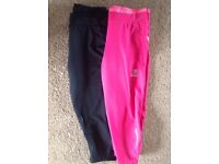 2 pairs running pants, size small