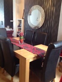 Dining room table and chairs-£150