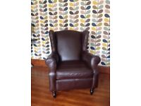 Next leather Sherlock chair with studs