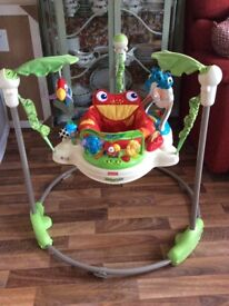 Fisher price baby jumperoo-musical light show, three height levels
