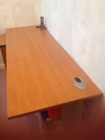 Wooden top office table with metal legs