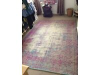 NEXT - shabby chic/distressed rug as new £40 ono collect from Barbican, Plymouth
