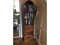 Solid wood bookshelf with 3 drawers - good condition - must go by Tuesday 21st August