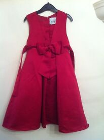 Satin Claret Party Dress