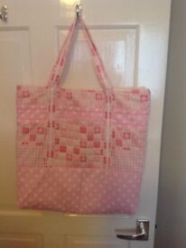 2 Hand Made Patchwork Shopping Bags.
