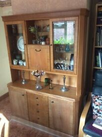 Elm sideboard and display unit