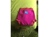 Pink swim nappy