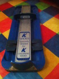 Children's K shoe Gauge with measuring Tape