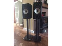 Monitor Audio BX2 speakers. Pair of with stands