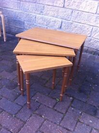 Nest of 3 small tables
