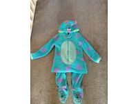 5-6 years sully dressing up onesie costume world book day