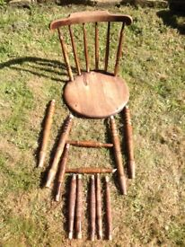 Farmhouse carver chair, needs repairing so free.
