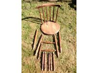 Farmhouse carver chair, needs repairing so free.