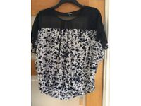 Ladies top from warehouse size 14, hardly worn immaculate condition. From smoke and pet free home