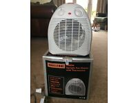 Fan heater and cooler.