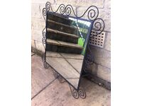 Metal scrolled decorative mirror in great condition