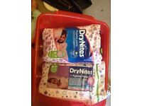 2 packs of dry nites