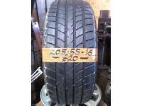205-55-16 Dunlop Sp Sport 8000 91W 4.5mm Part Worn Tyre