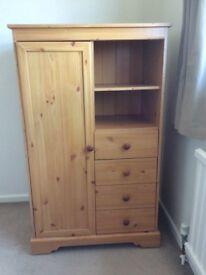 Wardrobe, 3 drawer, 1 shelf unit
