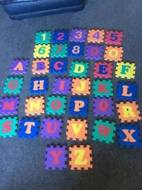 Foam alphabet and number mats