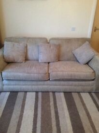 Ex Stirling sofa 4 seater and a 3 seater + footstool.ex condition.smoke free hoose
